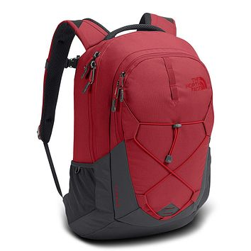 Jester Backpack in Rage Red & Asphalt Grey by The North Face