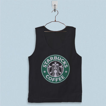 Men's Basic Tank Top - Starbucks Coffee Logo