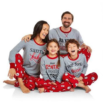 Family Christmas Matching Santa Pajama Set
