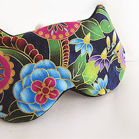 Eye mask, Sleep mask, eye sleep mask, Kitty eye mask, Cat eye mask, Kitty sleep mask-Floral