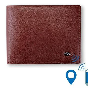 Smart Wallet Genuine Leather with alarm GPS Map, Bluetooth Alarm