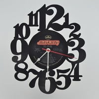 Music Art Unique Handmade Vinyl Record Clock (artist is Def Leppard)