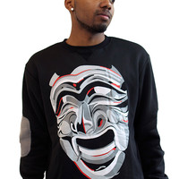 Mask Crewneck in Black