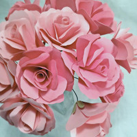 Paper roses. valentines Day roses. Pink roses. wedding centerpeices. Wedding bouquet. Valentines day. Mothers Day Flowers.