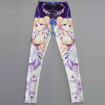 DCCKH6B NEW 3418 sexy girl women Cartoon Sailor Moon Crystal Serenity 3D prints polyester elastic fitness Women leggings pants