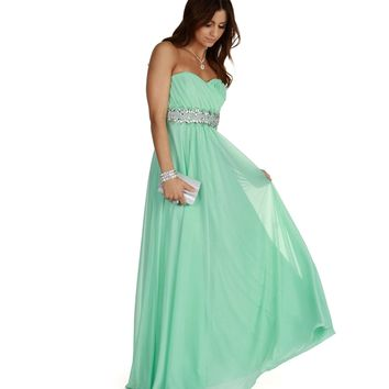 Amina-mint Prom Dress
