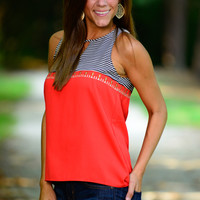 Sail Away Vacay Tank, Orange