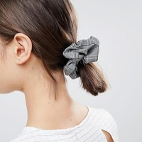 ASOS DESIGN Check Scrunchie Hair Tie at asos.com