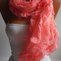 Hotpink Curly Party Shawl/Scarf