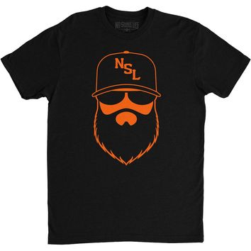 NSL Beard League Men's T-Shirt Black/Orange