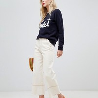 Whistles Salut Applique Sweatshirt at asos.com