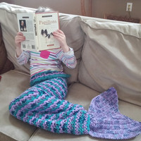 Teen / Adult Size Crochet Mermaid Tail Snuggle Sack PATTERN, Mermaid Tail Pattern, Mermaid Blanket Pattern