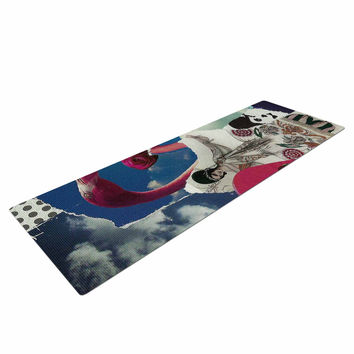 "Jina Ninjjaga ""Flamingo Attack"" Pop Art Yoga Mat"