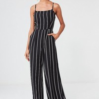 UO Striped Wide-Leg Jumpsuit | Urban Outfitters