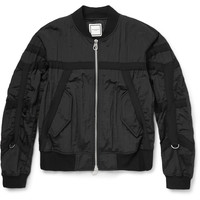 Wooyoungmi - Grosgrain-Trimmed Textured-Shell Bomber Jacket