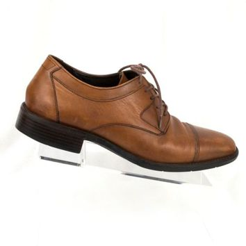 Johnston and Murphy 8.5 M 11560 Brown Leather Cap Toe Oxford 613 EU 41.5 Lace up