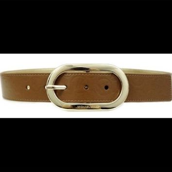 DCCKJY6X NWT Michael Kors Brown MK Belt 553347