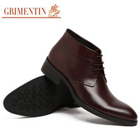 GRIMENTIN fashion British designer mens dress shoes boots genuine leather high top