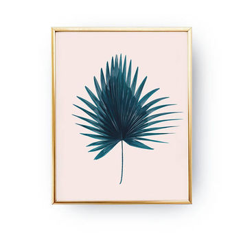 Palm Leaf Print, Botanical Poster, Boho Art, Tropical Art Print, Floral Wall Decor, Watercolor Art, Flower Decor, Boho Desert, Modern Prints