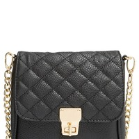 Junior Women's Amici Accessories Quilted Crossbody Bag - Black