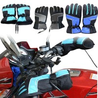 Winter Electric Warming Gloves Handlebar Heating Gloves For 12V Motorcycle and Scooter Motorcycle Gloves sport gloves