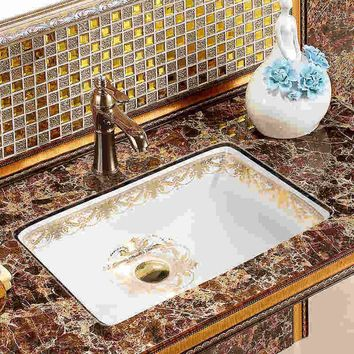 Rectangular chinese wash basin sink bathroom sink bowl