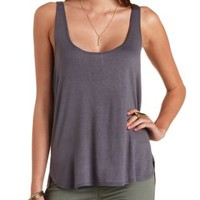 Slouchy Racerback Muscle Tank Top by Charlotte Russe
