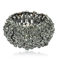 Gun Tone Punk Bangle - Bracelets - Fashion Jewelry