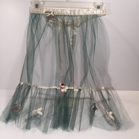 Vintage Green Tulle Christmas Apron from the 1950's