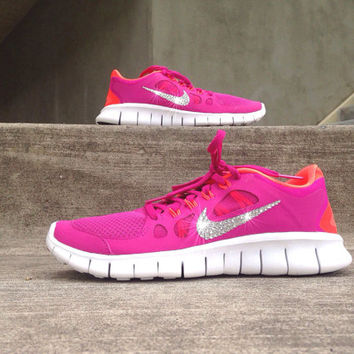 New Nike Free Series of lovers Training Shoes Pink orange e6bd0b1ad128