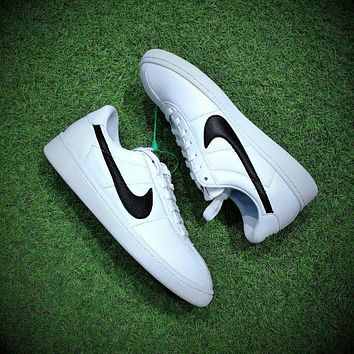 Best Online Sale NIKELab Bruin Leather QS White Black Sneakers Casual Shoes - 842956-1