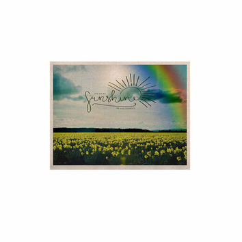"Robin Dickinson ""You Are My Sunshine,Rainbow"" Blue Yellow KESS Naturals Canvas (Frame not Included)"