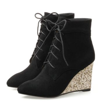 Wedge Heel Ankle Boots | Lace Up Wedge Heel Boots