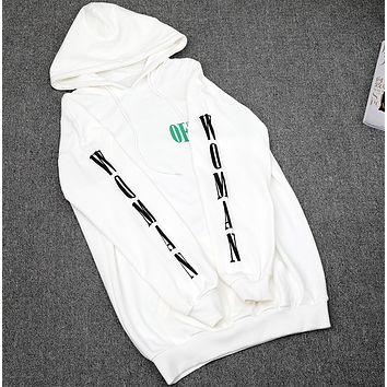 OFF-White Trending Casual Women Men Embroider Pullover Long Sleeve Sweater G