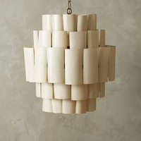 Banana Leaf Chandelier by Anthropologie in White Size: One Size Lighting