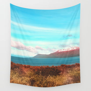 Mountains & Sea Wall Tapestry by Viviana Gonzalez