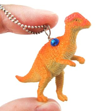 Dinosaur Pachycephalosaurus Bone Head Shaped Pendant Necklace | Animal Jewelry