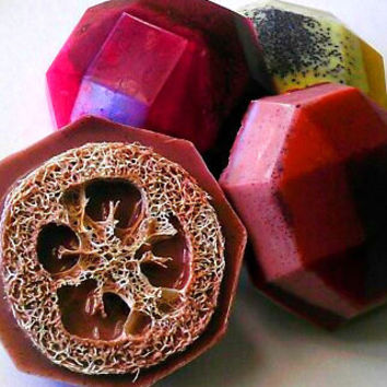 SALE-Soap - Comfort Collection Loofah Soaps - Gift Set of 4 Exfoliating Soaps