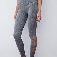 Heathered Cutout Leggings