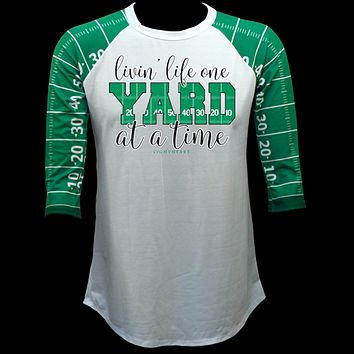 Couture Lightheart One Yard At A Time Football Raglan Long Sleeve T-Shirt