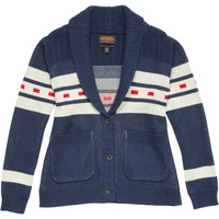 The Portland Collection Lava Lake Cardigan - Women's Navy Camp Stripe,