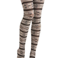 Snow Bunny Tights | Mod Retro Vintage Tights | ModCloth.com