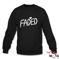 Faded crewneck sweatshirt