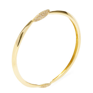 Alexis Bittar Fine Women's Gold & Pave Diamond Marquis Bangle - Gold
