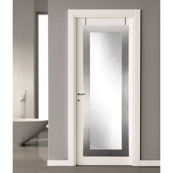 Brandt Works Modern Silver Over the Door Full Length Mirror