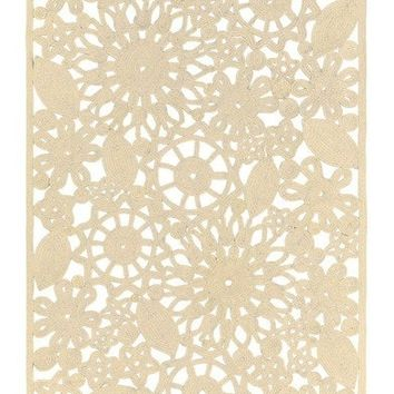 Sanibel Cutwork Outdoor Beige Rugs