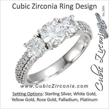 Cubic Zirconia Engagement Ring- The Kiesha