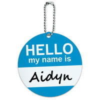 Aidyn Hello My Name Is Round ID Card Luggage Tag