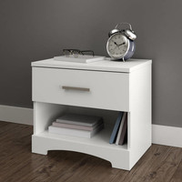 South Shore Gramercy 1-Drawer Nightstand, Multiple Finishes - Walmart.com