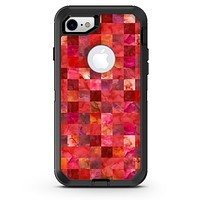 Red Watercolor Patchwork - iPhone 7 or 8 OtterBox Case & Skin Kits